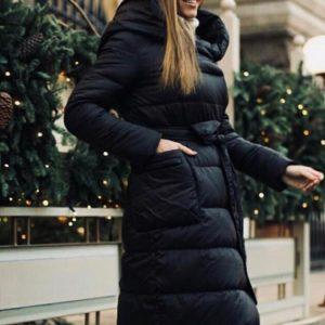 Куртка зимняя женская с поясом Верона черная