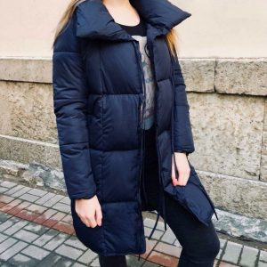 """Женская зимняя куртка """"одеяло"""" синяя"""