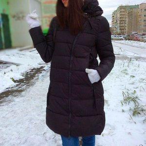 """Куртка женская теплая """"Элис"""" темно-синяя"""