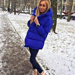 """Куртка женская зимняя """"зефирка"""" синяя"""