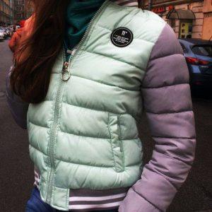 """Куртка женская легкая """"бомбер"""" мятная"""
