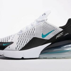 Кроссовки Nike Air Max 270 белые с голубым