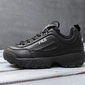Кроссовки Fila Disruptor черные, размеры 36-41