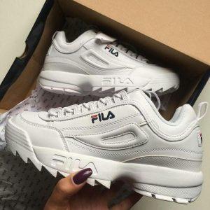 Кроссовки Fila Disruptor белые, размеры: 36-41, натуральная кожа