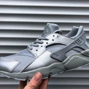 Кроссовки Nike Air Huarache серебро