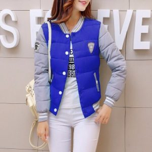 Куртка женская бомбер синяя