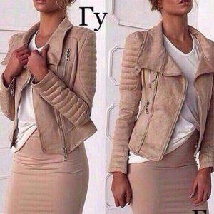 Куртка женская замшевая короткая