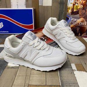 Кроссовки женские белые New Balance 574 белые