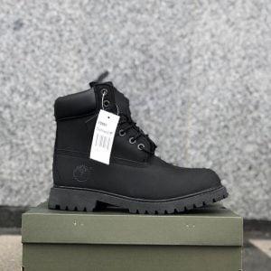 Ботинки Тимберлэнд черные с мехом