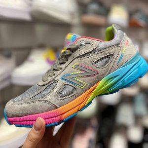 Кроссовки New Balance 999 серые радуга