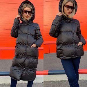 """Зимняя женская куртка """"трансформер"""" черная"""