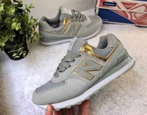 Кроссовки New Balance 574 серые Gold
