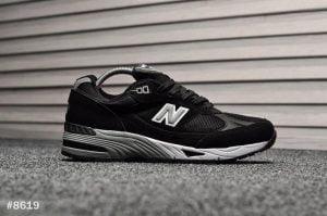 Кроссовки мужские Нью Баланс 991 черные с серым