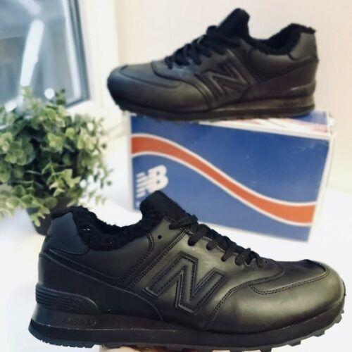 Зимние мужские кроссовки черные 574