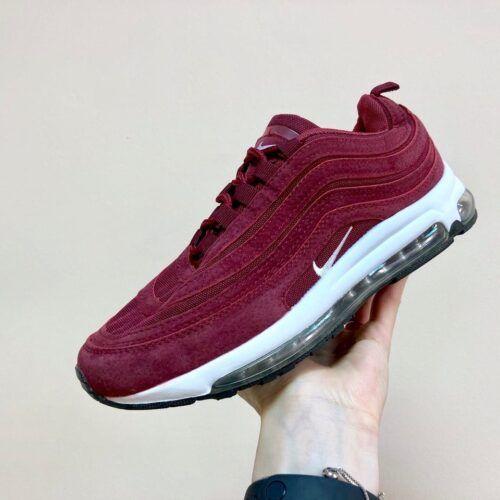 Кроссовки Nike 97 бордовые