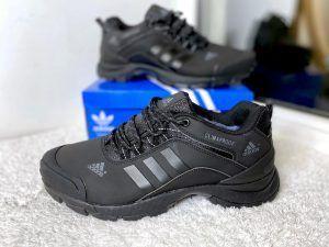Кроссовки Adidas Climaproof черные кожаные
