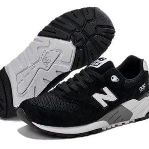 Кроссовки Нью Баланс 999 черные с белым