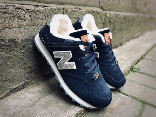 Кроссовки New Balance женские темно-синие с мехом