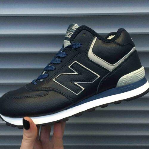 Кроссовки New Balance высокие синие
