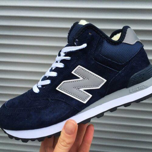 Зимние кроссовки Нью Баланс темно-синие