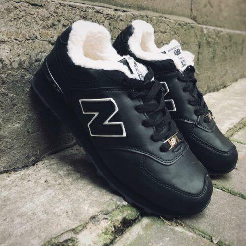 Кроссовки зимние NB черные