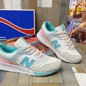 Кроссовки Нью баланс 997 мятные с белым