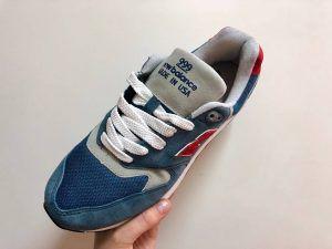 Кроссовки New Balance 999 голубые с красным