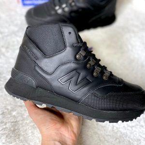 Кроссовки New Balance Trail 755 черные с мехом