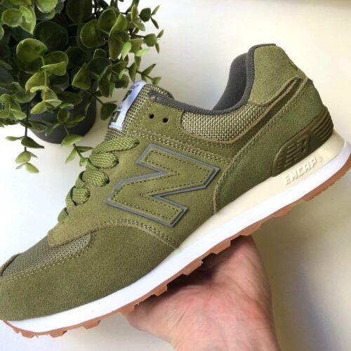 Кроссовки зеленые мужские Нью Баланс