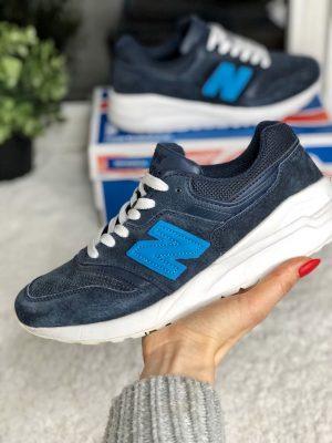 Кроссовки Нью Баланс 997 синие на платформе