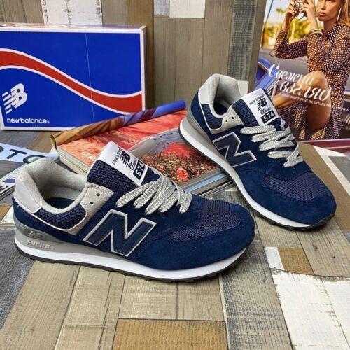 кроссовки Нью Баланс синие 574