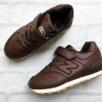 Детские кроссовки New Balance СПб коричневые