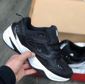 Кроссовки Nike M2 Tecno черные с белой подошвой