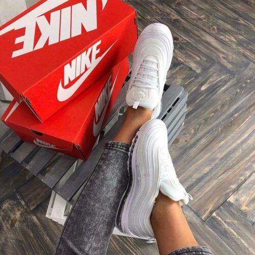 Белые кроссовки Nike Air Max 97 белые