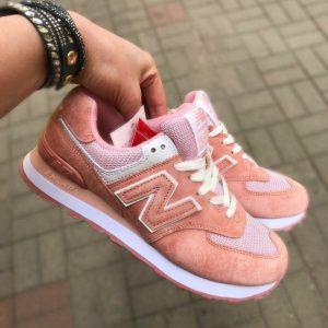 Кроссовки женские New Balance 574 Pink white