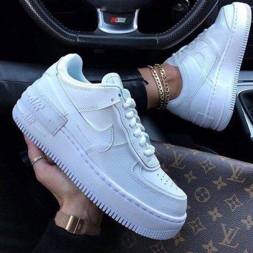 Белые кроссовки Nike Air Force Shadow White женские