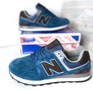 Кроссовки Нью Баланс 574 синие Стич