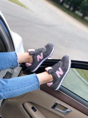 Женские кроссовки New Balance 574 серые Jerry