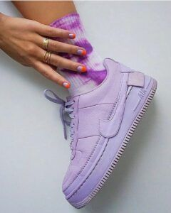 Кроссовки Nike WMNS Air Force 1 женские сиреневые