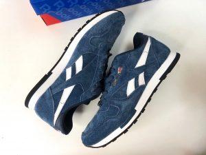кроссовки Рибок классические голубые New