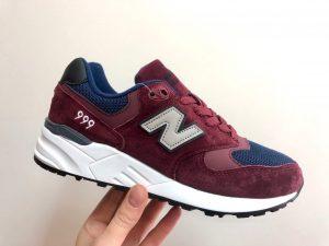 Кроссовки New Balance 999 бордовые с синим