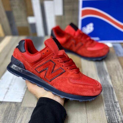 Мужские красные кроссовки Нью Баланс 574
