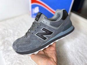 Кроссовки мужские New Balance 574 серые Dark Grey