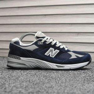 Кроссовки Нью Баланс 991 синие с серым
