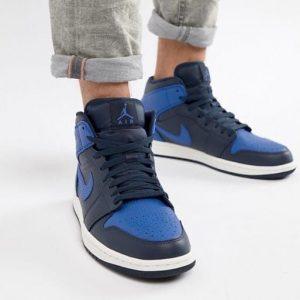 Кроссовки Nike Air Jordan 1 Retro High синие