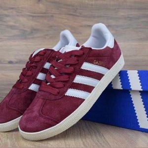 Кроссовки Adidas Gazelle бордовые