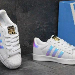 Кроссовки Adidas суперстар перламутр