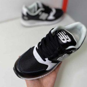 Кроссовки NB 530 черные кожаные с сеткой