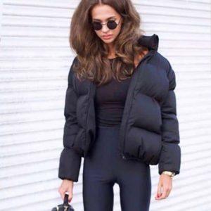 """Куртка женская демисезонная """"дутая"""" черная"""