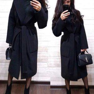 Пальто женское, свободного кроя женское